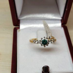 A promise Ring with Genuine Austrian Crystal 4mm